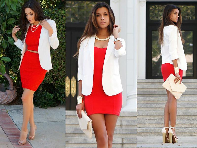 Картинки по запросу красное платье с чем носить