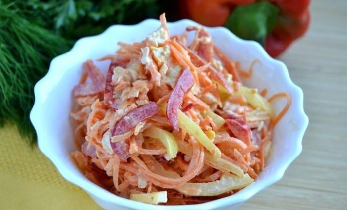 Очень вкусный салат. \ Фото: bdi.spb.ru.