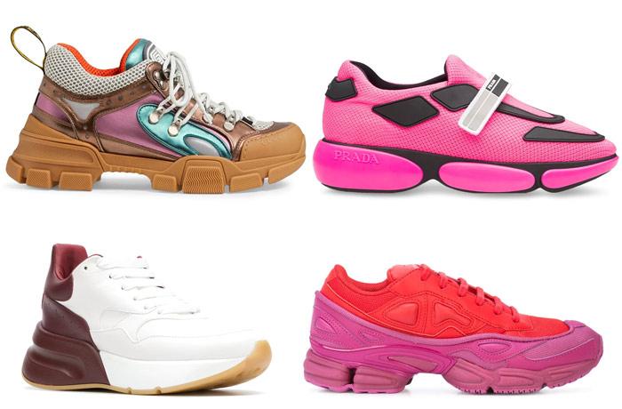 Кроссовки от Gucci, Prada, Alexander McQueen и Adidas by Raf Simons в Farfetch