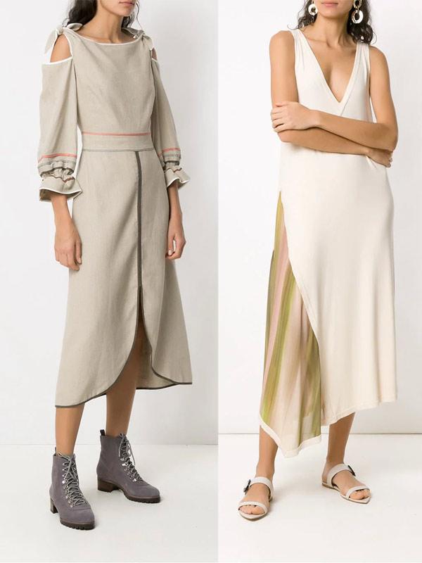 Бежевые платья в Farfetch 2019