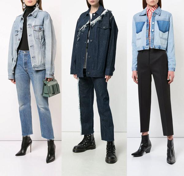 Куртки из денима в стиле 90-х годов