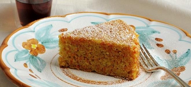 Морковный пирог - классический рецепт
