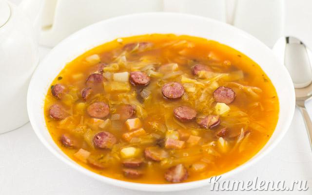 Немецкий колбасный суп — 7 шаг