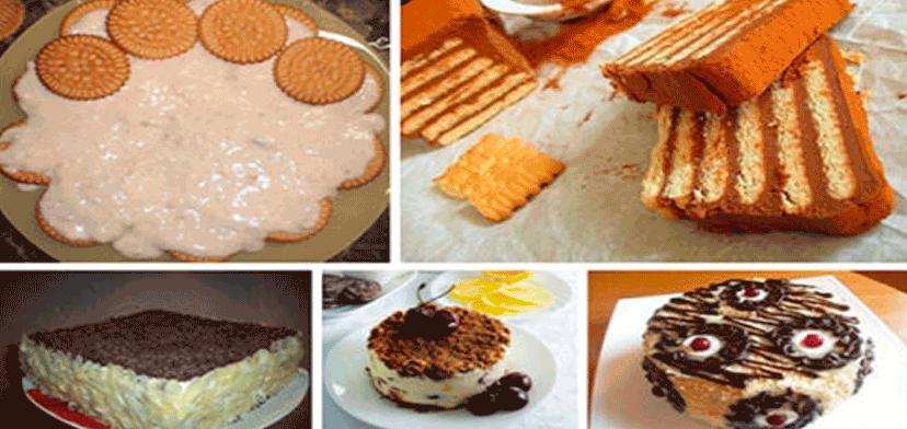 Легкие торты из печенья без выпечки