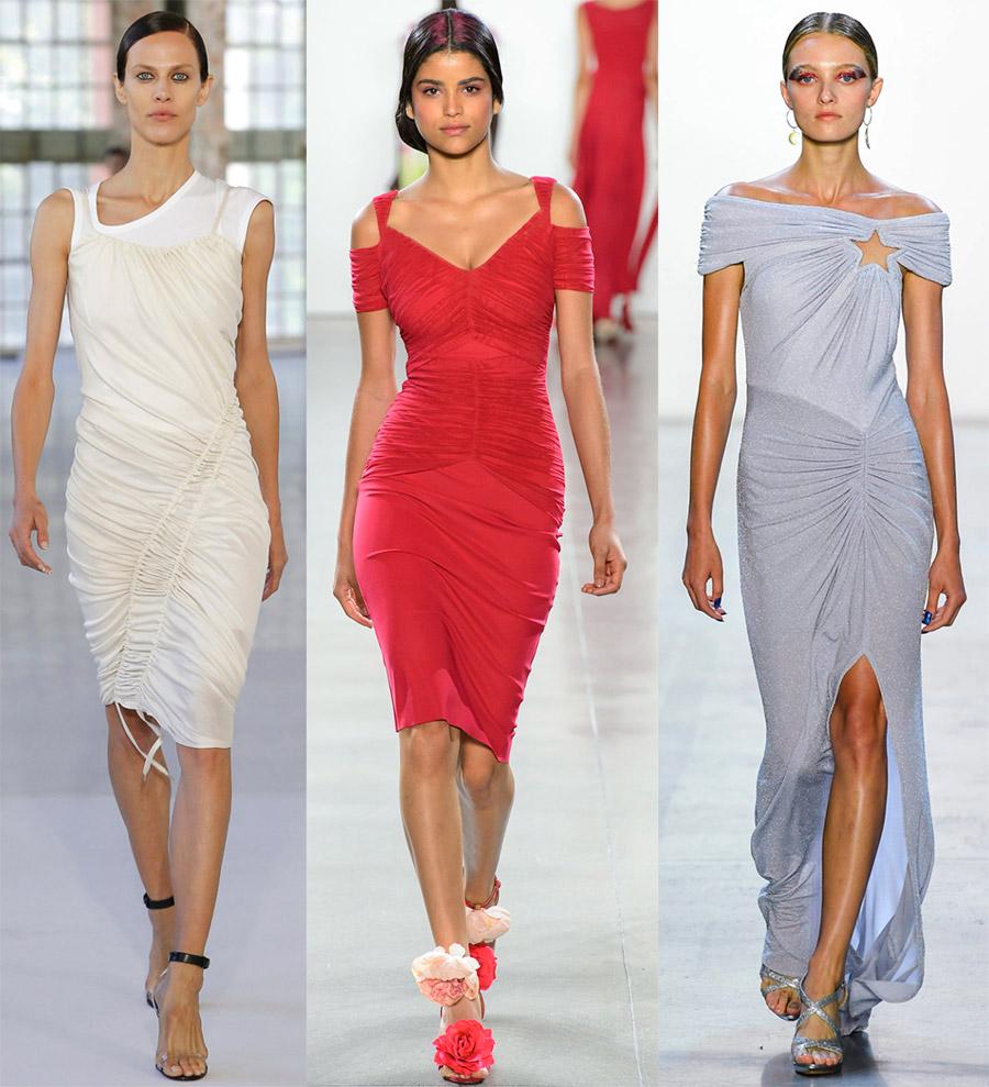 Модные платья с драпировкой