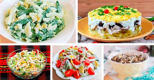 Шесть рецептов простых и вкусных салатов