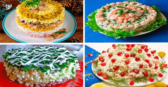 Вкусные слоеные салаты для праздничного стола
