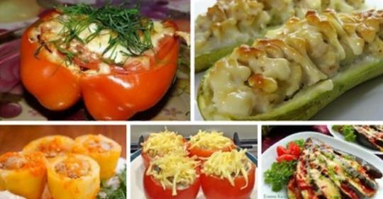 Пять рецептов фаршированных овощей