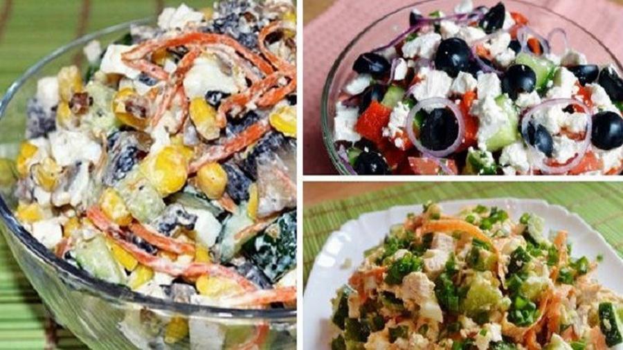 Салаты без майонеза! Вкуснее оливье, не потеряйте рецепт.