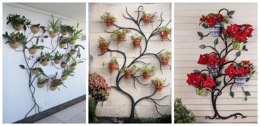 Стильные идеи для дачи и дома: Оригинальные вертикальные подставки для цветов