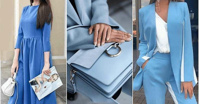 «Небесно-голубая нежность»: 15 свежих способов выглядеть женственно и стильно