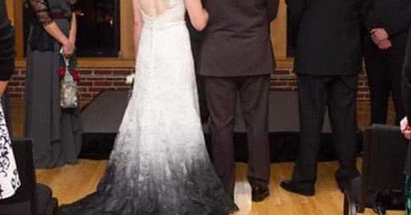 Невесту осмеяли заспособ «сохранить чистым» подол платья