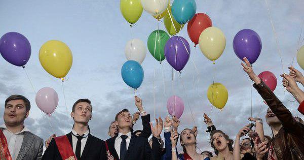 Россиянам запретили запускать воздушные шарики навыпускных