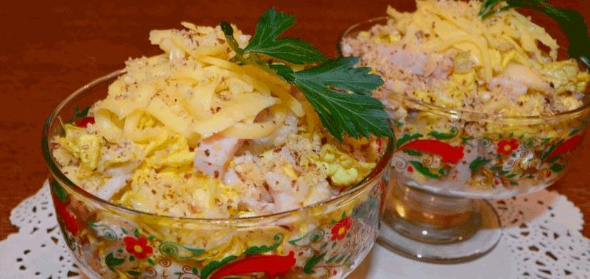 Изысканный легкий салат «Загадка Софии» без майонеза